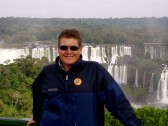 On top of Iguazu Falls on the border of Argentina and Brazil