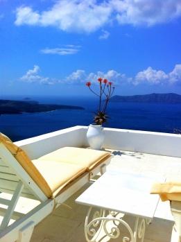On top of Santorini, Greece